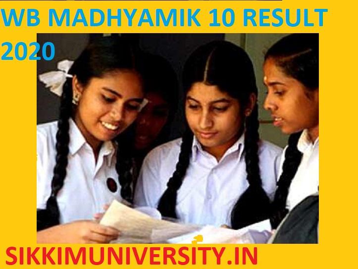 WB Madhyamik 10th Topper List /Result 2020 - WBBSE Madhyamik Result 2020 @wbresults.nic.in 1