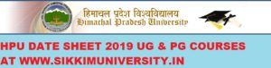 HPU Exam Time Table/Routine 2020 for Part 1/2/3year BA BCOM BSC MA Exam TERM END date sheet 1