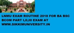 LNMU Part 1/2/3 Year Time Table 2020 - BA, B.Com, B.Sc Exam Schedule/Date sheet/Routine 1