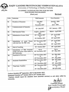 RGPV Exam Schedule 2021, RGTU B.Tech BE BArch Diploma MTECH ME MCA MBA Time Table 3