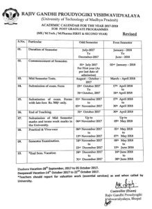 RGPV Exam Schedule 2021, RGTU B.Tech BE BArch Diploma MTECH ME MCA MBA Time Table 5