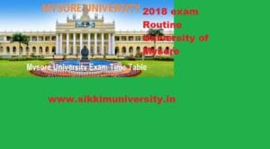 Mysore University Exam Schedule 2020 for Part 1/2/3 year BA BSC BCOM Exam Download 1