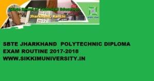 SBTE Jharkhand Routine 2020, Jharkhand Polytechnic Sem Exam Date 1