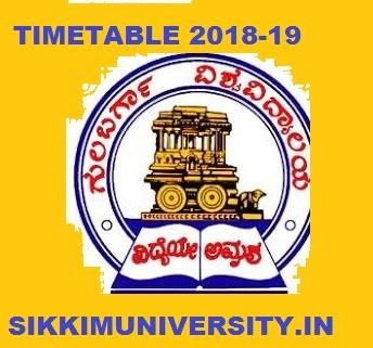 Gulbarga University Date Sheet 2019-20 Part I, II, III BA BCOM BSC Exam Schedule at gug.ac.in 1