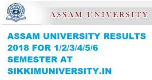 Assam University Result 2019 -Www.Aus.Ac.In, B.A B.Sc B.Com 2nd, 4th, 6th Semester Results 1