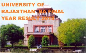 Rajasthan University BA Final Year Result 2019 - Uniraj.Ac.in B.A 3rd Year Result Date 1