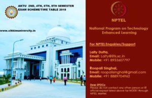 AKTU 2/4/6/8 Sem  Time Table 2019, UPTU EVEN Semester BTECH Date