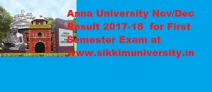 Anna University First Sem Nov/Dec Results 2018 PG UG 1