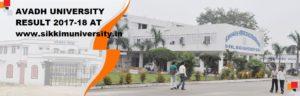 Avadh University Result 2020 Part I, II, IIIrd year BBA BCA  BSC BA BCom Result 1