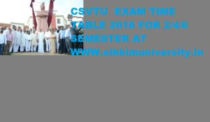 CSVTU 2/4/6 Sem. Diploma Date sheet 2020, CG Polytechnic EVEN Sem Exam Date/Time Table 1