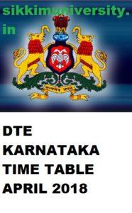 DTE Karnataka  2/4/6 Sem. Date Sheet April 2021,  BTELINX Polytechnic Diploma March Exam Date 2021 1