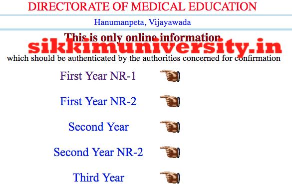 dme.ap.nic.in AP GNM/Midwifery Nursing 1/2/3/4 year Results 2019-20 2