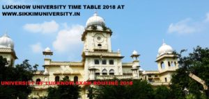 Lucknow University Schedule/Time Table 2021 Part I, II, IIIrd year, LU BSC BA BCOM Exam Routine 2021 1