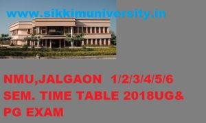 NMU Winter/Summer Time Table 2019-20, NMU FY SY TY BCOM BA BSC MA Exam Schedule 2019-20 1