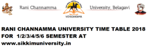 RCUB Exam Schedule 2021 for 2/4/6 Sem BA BSC BCOM Time Table at Rcub.ac.in 1