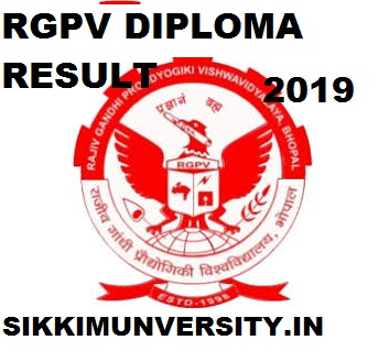 RGPV Diploma Result 2018- 2019 for 1/3/5 Semesters at www