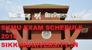 SKMU Exam Routine/Schedule 2020, SKMU Dumka  PG/UG Part 1/2/3 year Time Table 2020 1