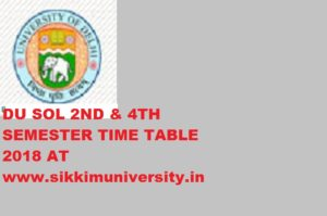 DU SOL MA History & Sanskrit Sem 2, 4 Exam Time Table 2020 1