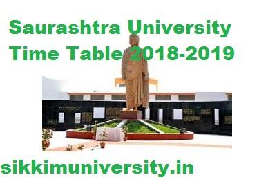 Saurashtra University Exam Schedule 2021 Part 1,2,3 year BA BSC BCOM MA Date sheet 1