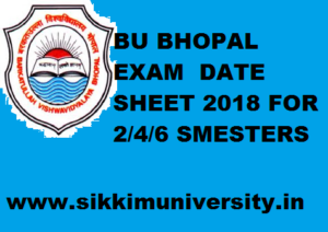 BU Bhopal 2/4/6 Sem Time Table 2020, BSC, BCOM, BA, MSC, MA, B.Ed Exam Schedule 2020 1
