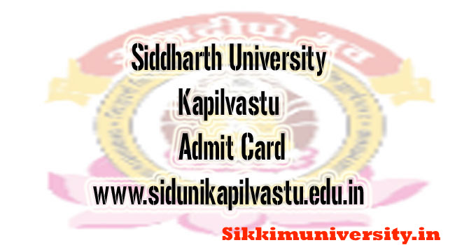 sidDHARTH UNIVERSITY KAPILVASTU time table pdf