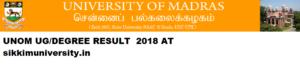 Madras University Result 2021 Part 1/2/3 year BA BCA BSC BCOM Exam 1
