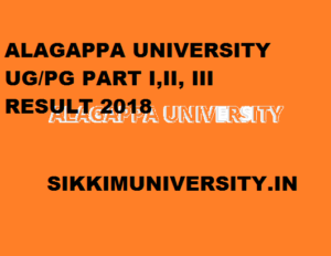 Alagappa University Result 2020 Part I, II, III Year - Alagappa University  DDE Degree Result 2020 1