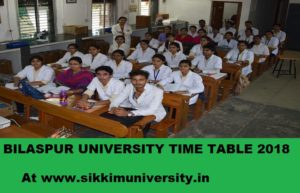Bilaspur University Exam Schedule 2020 Part I, II, III BA, BSC, BCOM MSC, MA, M.Com Exam Time Table 1