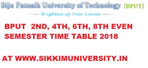 BPUT 2/4/6/8 Sem. Time Table 2020-21 Biju Patnaik Uni. of Technology EVEN Sem. Date sheet 2021 1