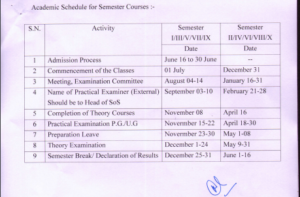 Bilaspur University Exam Schedule 2020 Part I, II, III BA, BSC, BCOM MSC, MA, M.Com Exam Time Table 4