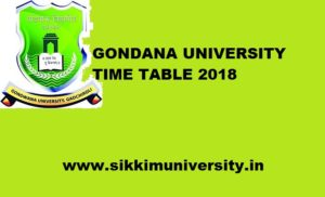 Gondwana University 1/2/3/4/5/6/7/8 Sem Time Table 2019-20 Download PDF Gondwana.digitaluniversity.ac 1