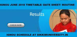IGNOU June 2020 TEE(PG & UG) Time Table Download Exam Date sheet 1