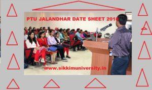 PTU 2/4/6/8 Sem. Date sheet 2020 - Punjab Technical University B.Tech B.Arch, B.Com, B.Sc Time Table April 2020 1