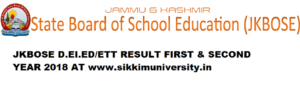 JKBOSE Result D.EI.ED Exam 2020 Check 2nd year Ist year @www.jkbose.co.in 1