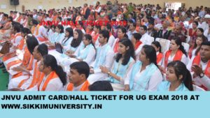 JNVU Admit Card 2020 for Part Ist, 2nd, 3rd BA BSC BCOM Exam Hall Ticket Download 1