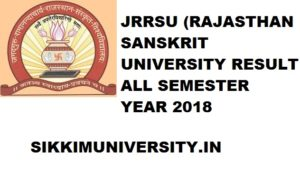 JRRSU Various Results 2021, Rajasthan Sanskrit University UG/PG Results 2021 1