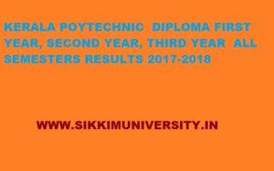 Tekerala Polytechnic 1/2/3/4/5/6 Sem. Result 2020, Kerala Polytechnic Merit List/Result 2020 1