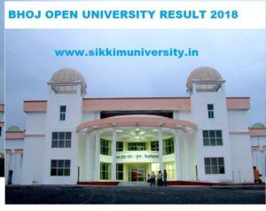 Bhoj University Results 2021 Part I, II, IIIrd year BA, BSC, BCOM Results 1