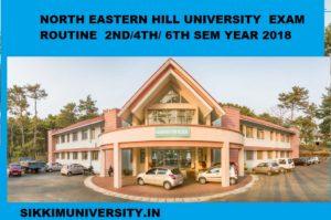 NEHU Exam Routine 2021 - Part 1st, 2nd, 3rd Year BA BCOM BSC Exam 1