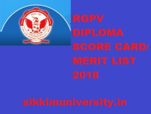 RGPV Diploma Results/ Cut Off/Merit List 2019 - Check RGPV