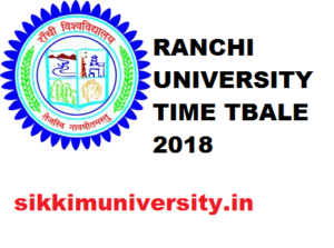 Ranchi University Exam Schedule/Routine 2019-20, Exam Time Table for BA BCOM BSC UG PG Exam Scheme 2