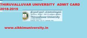 Thiruvalluvar University Admit Card 2021, Download Thiruvalluvar University Hall Tickets 2021 1
