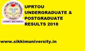 UPRTOU Results 2020 Part I, II, III for B.Ed, BA, BCOM, BSC, MCA June Exam 1