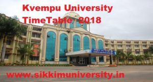 Kuvempu University Exam Schedule 2020  Part I, II,III PG/UG Regular IDE  Degree Sem Exam Routine 1