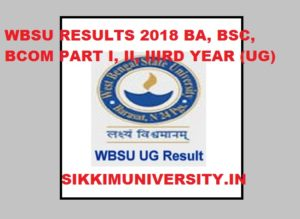 WBSU Result 2021 Part I, II, IIIrd year BA BSC BCOM - West Bengal State University UG Ist,2nd,3rd Result 2021 1