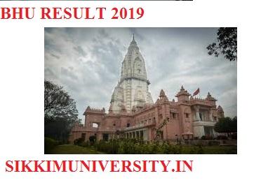 Banaras Hindu University Results/Merit List 2019 April/May Exam Part I, II, III year UG/PG 2