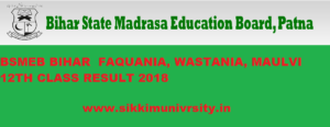 BSMEB - Bihar Madrasa Fauquania, Maulvi,Wastania 12th Result 2020 Published 1
