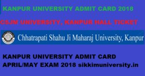 Kanpur University Admit Card 2020-21 - CSJMU Part I, II, III Year BA BCOM BSC Admit Card download 1