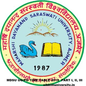 MDSU Time Table 2021 for Part Ist, 2nd, 3rd BA, BSC, BCOM MA, MSC B.Ed Exam schedule 2021 1
