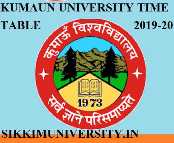 Kumaun University Main Exam Scheme/Date sheet 2021 - www.kuexam.ac.in 1